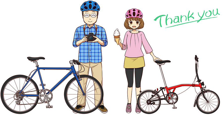 「Thank you」のメッセージが入ったイラスト