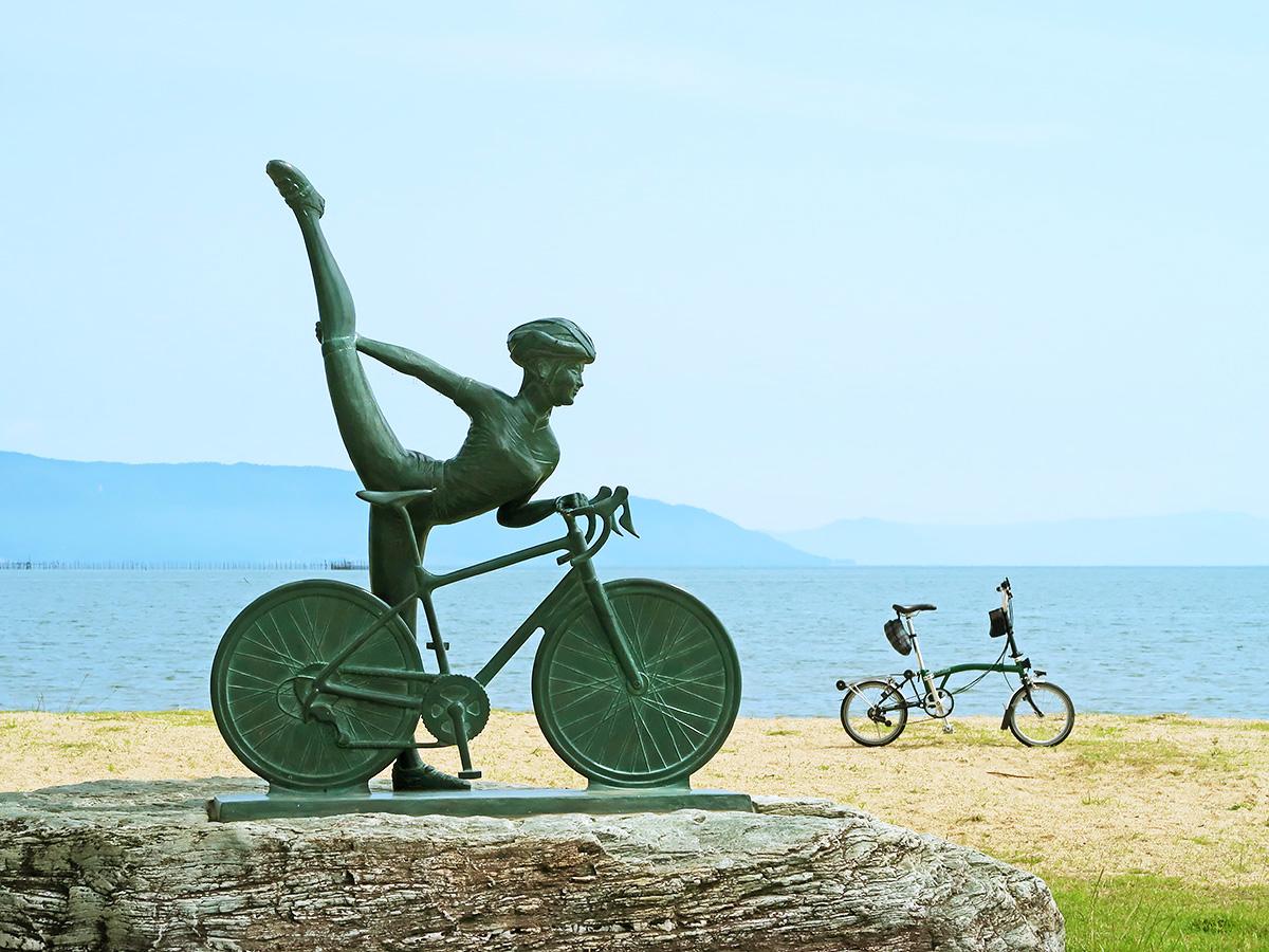 琵琶湖サイクリストの聖地碑