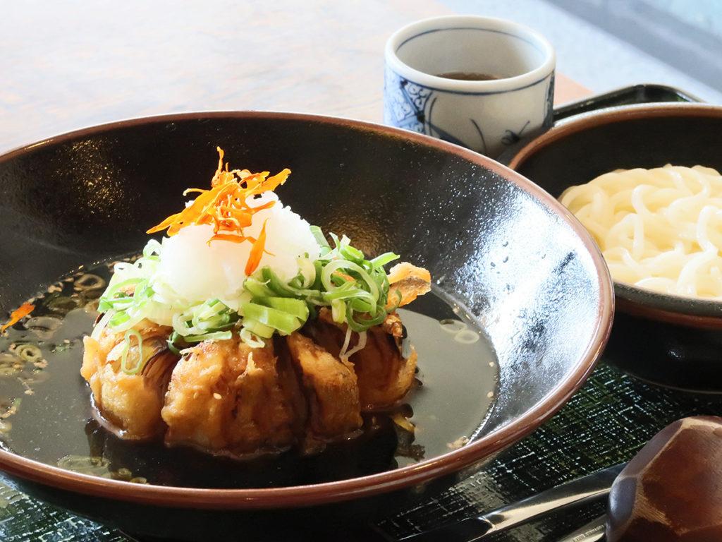 タマネギつけ麺