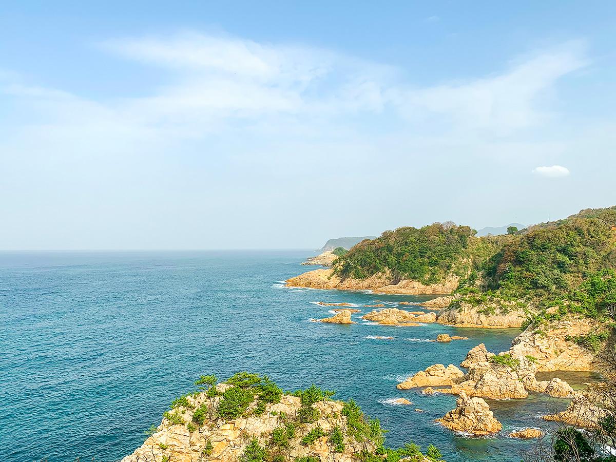 浦富海岸エリア・城原展望所付近の風景