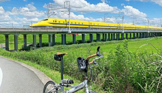 愛知県|逢妻川サイクリングロードで自転車と新幹線を撮れる場所