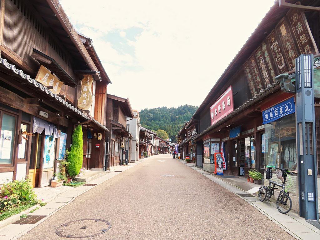 岐阜県恵那市にある観光名所「岩村城下町」の風景
