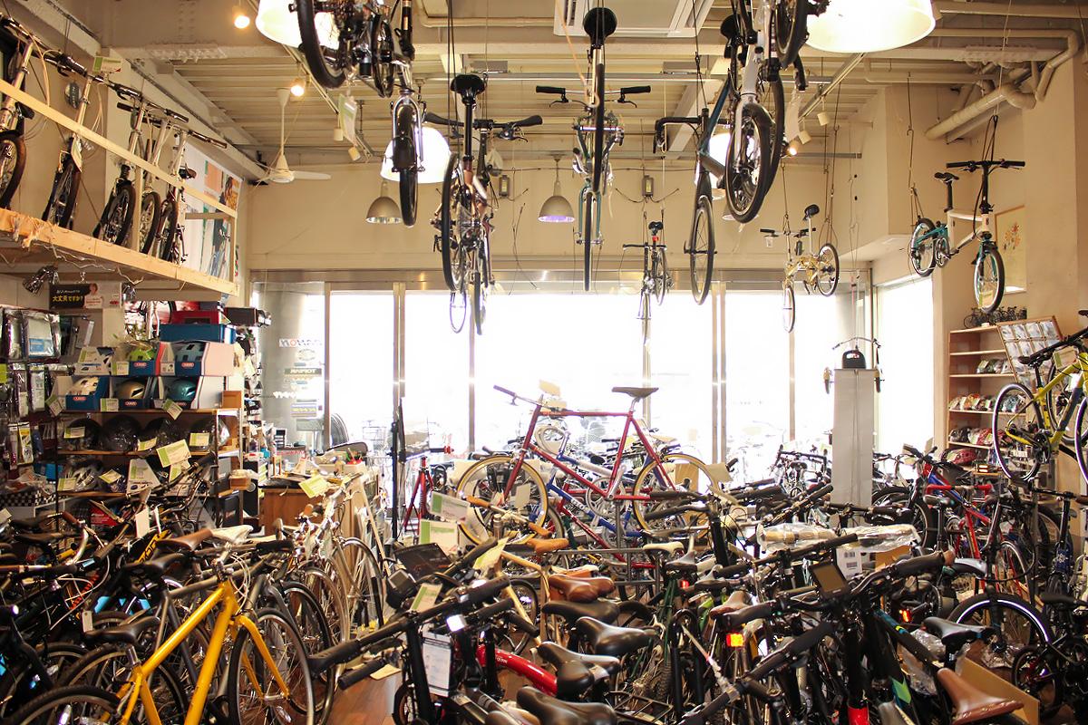 POTA BIKE製品の正規取扱店『サイクルショップ ナカゴヤ』の店内の様子