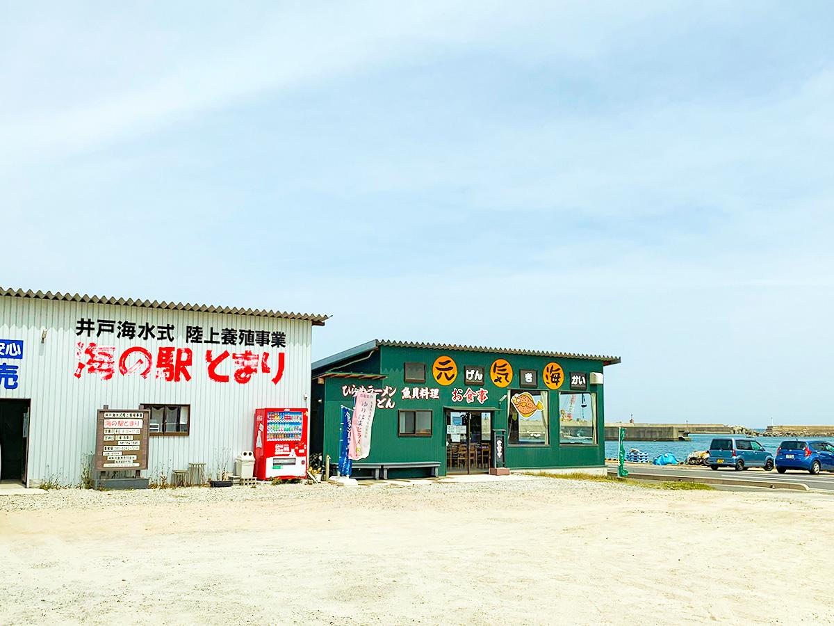 海の駅とまり・元気海の外観