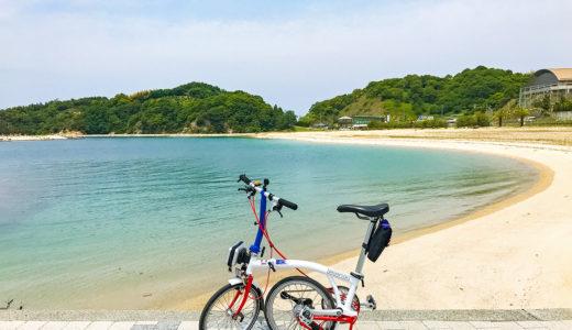 はまかぜ海道の途中のサイクルオアシス・道の駅ふわり前のビーチ